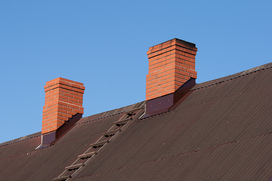 Paired chimneys