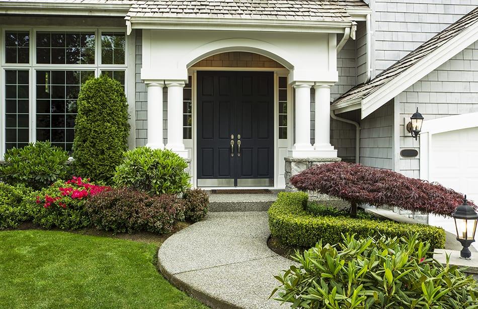 Double-front door in black