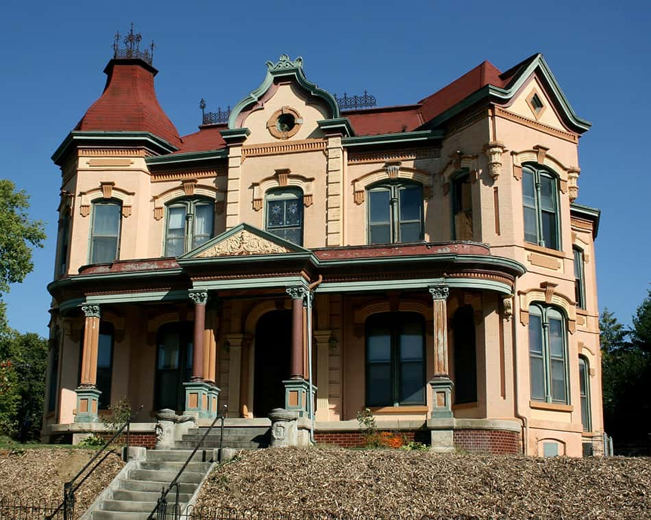 Victorian Second Empire style house