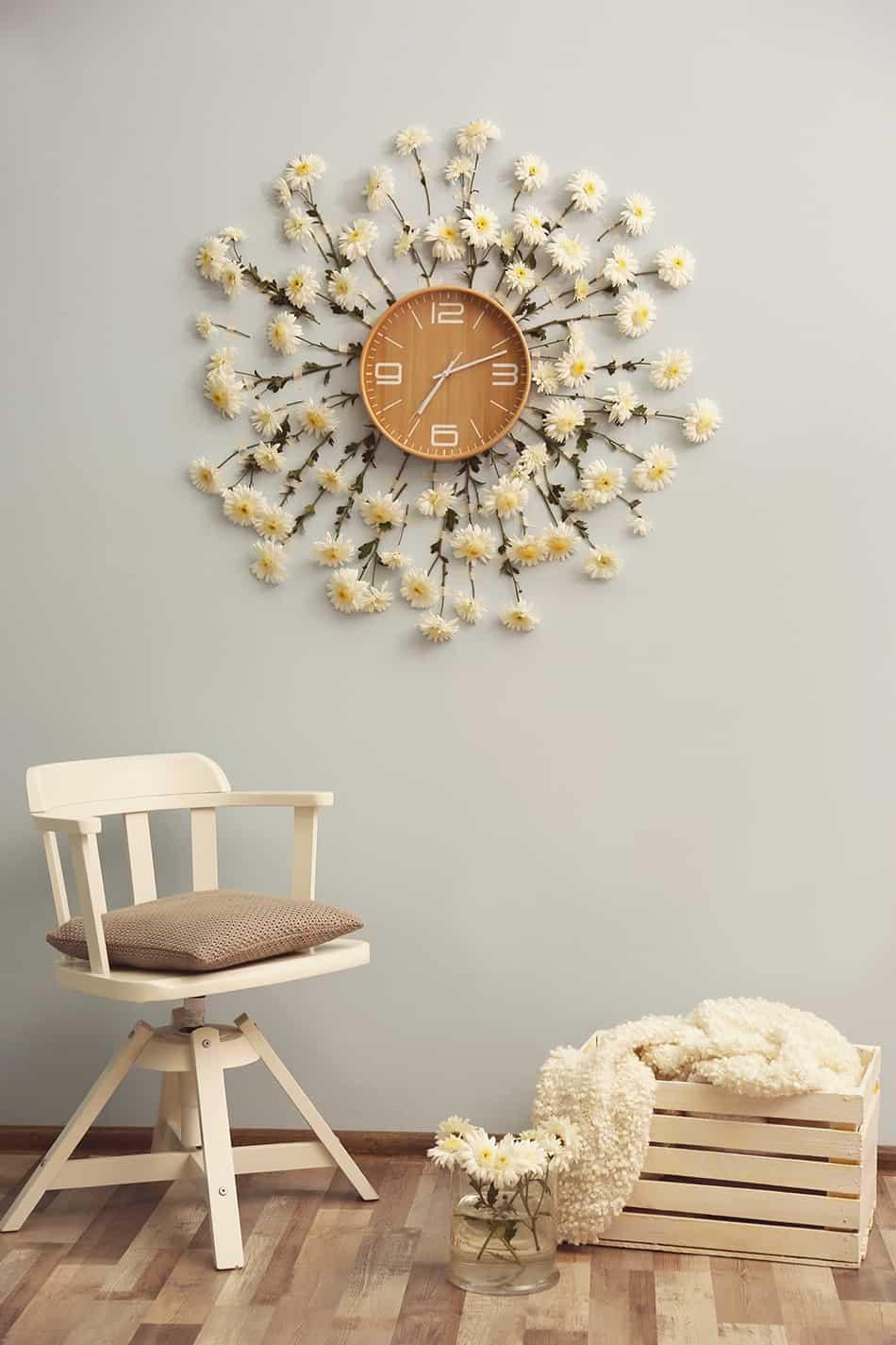Add a decorative clock