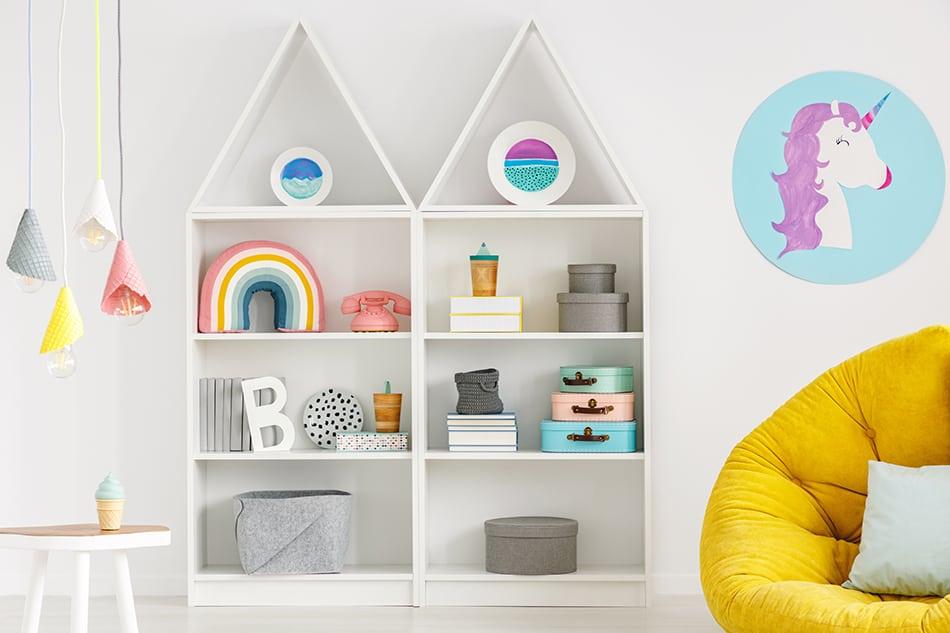 Create a rainbow-themed decor