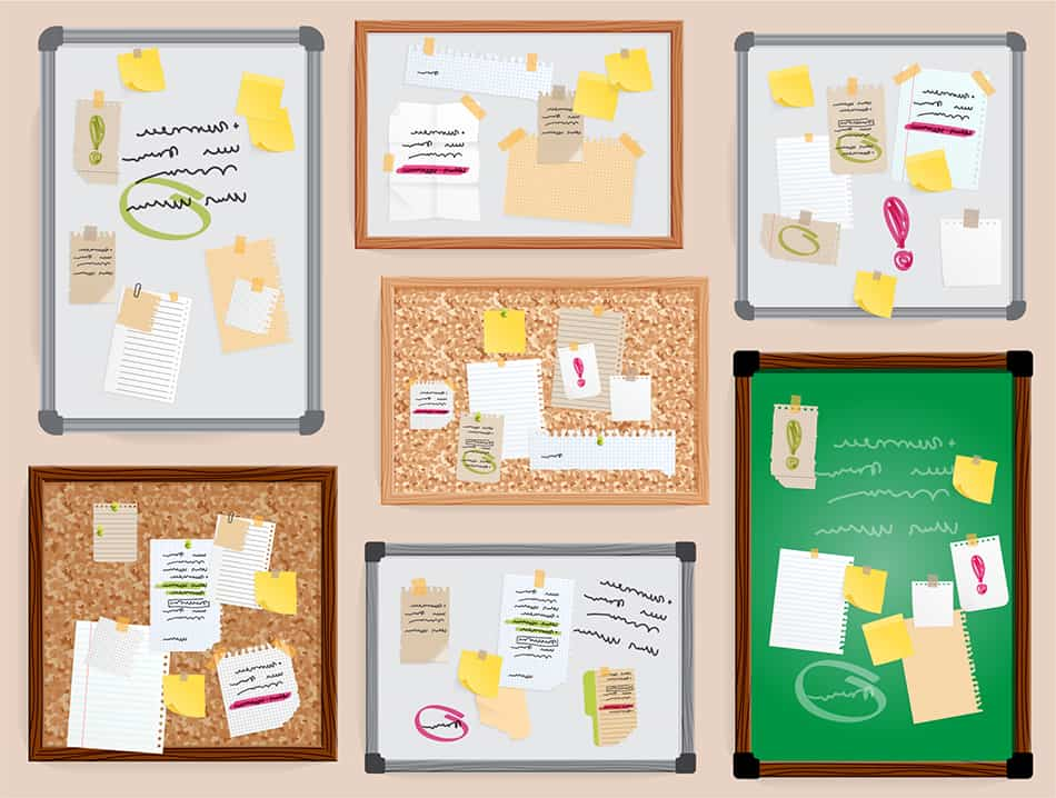 Create and recreate with bulletin boards