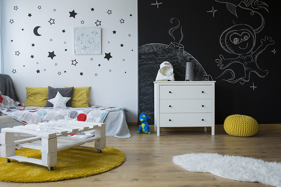 Draw on the entire wall space