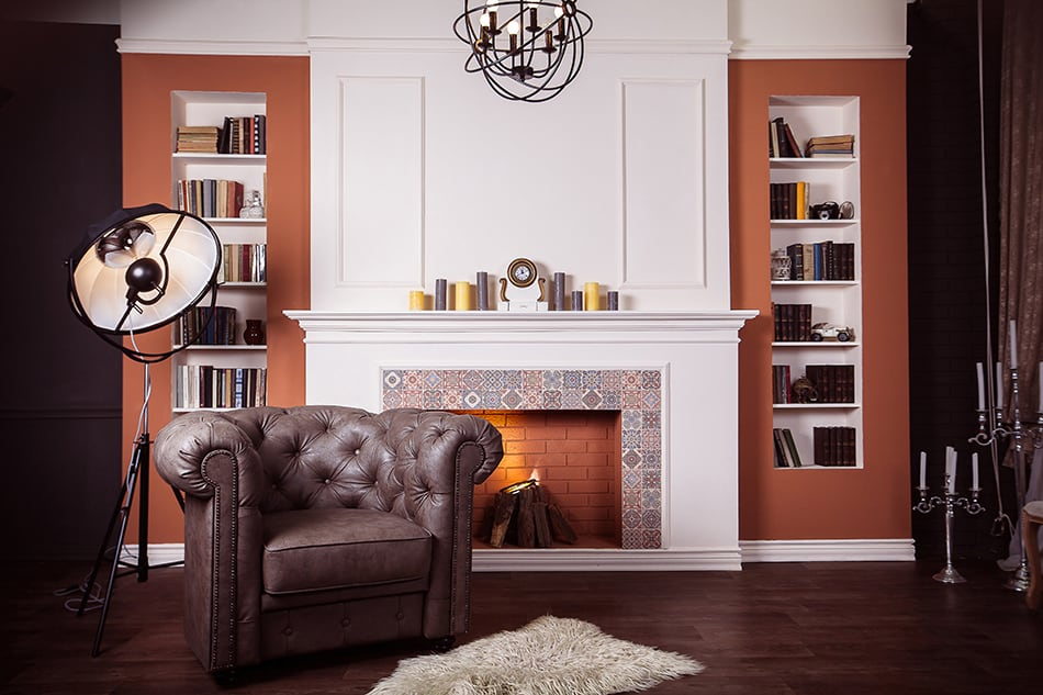 Experiment with symmetrical bookshelves
