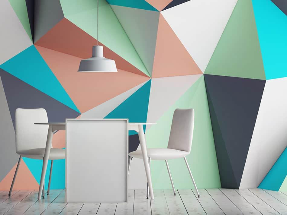 Geometric wallpaper for a custom look