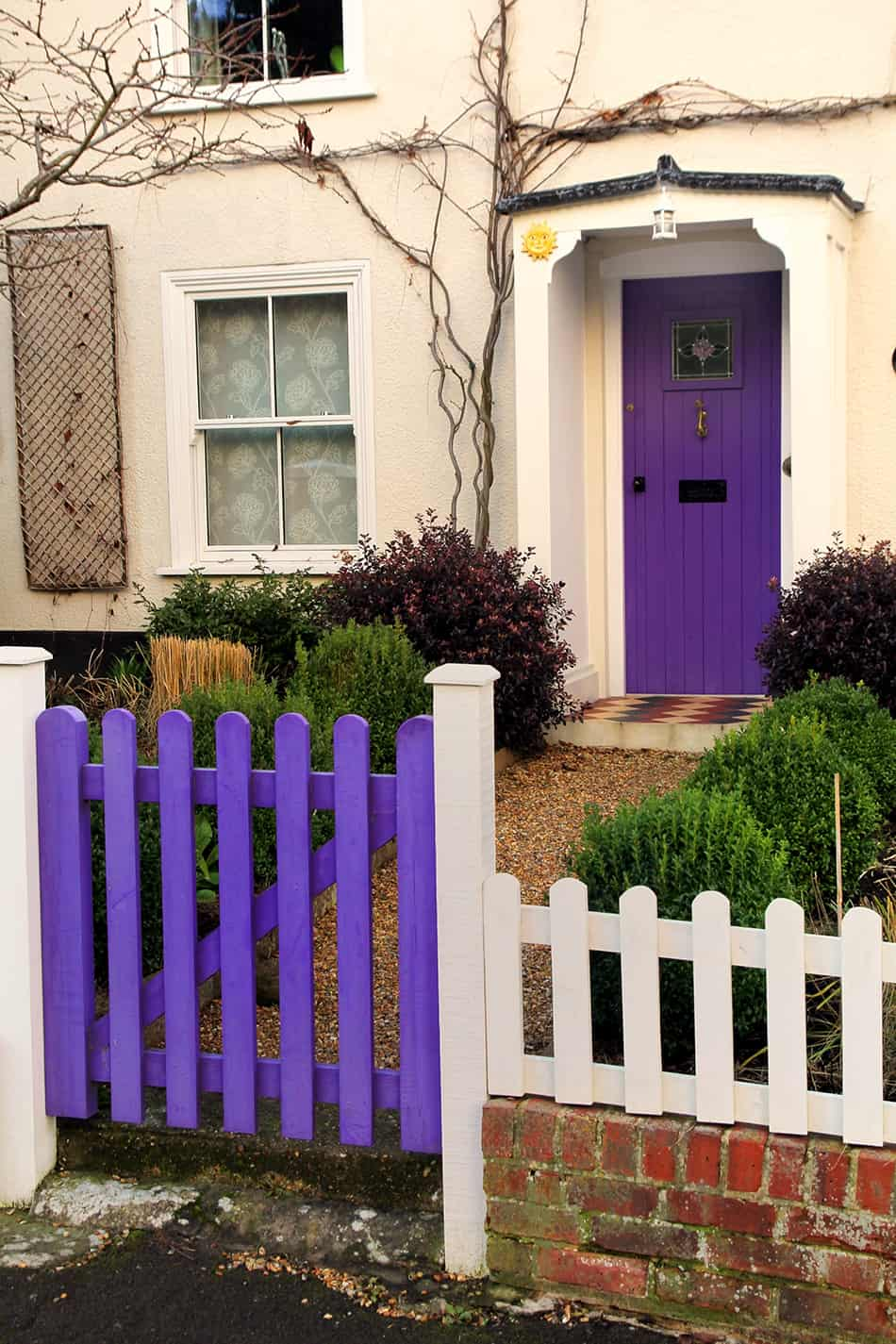 Make Your Entry Inviting with a Purple Gate