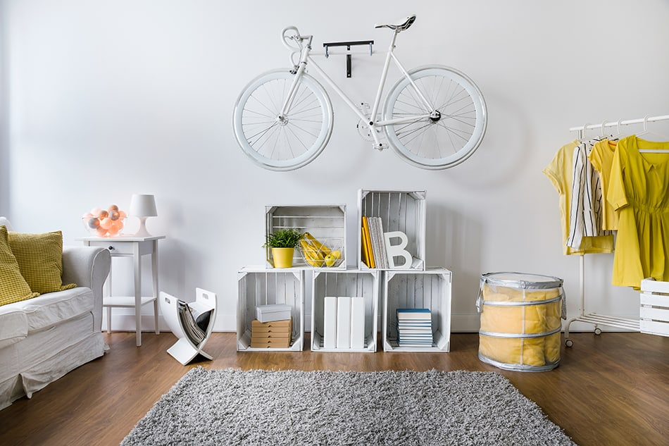 Mount your bike on the wall