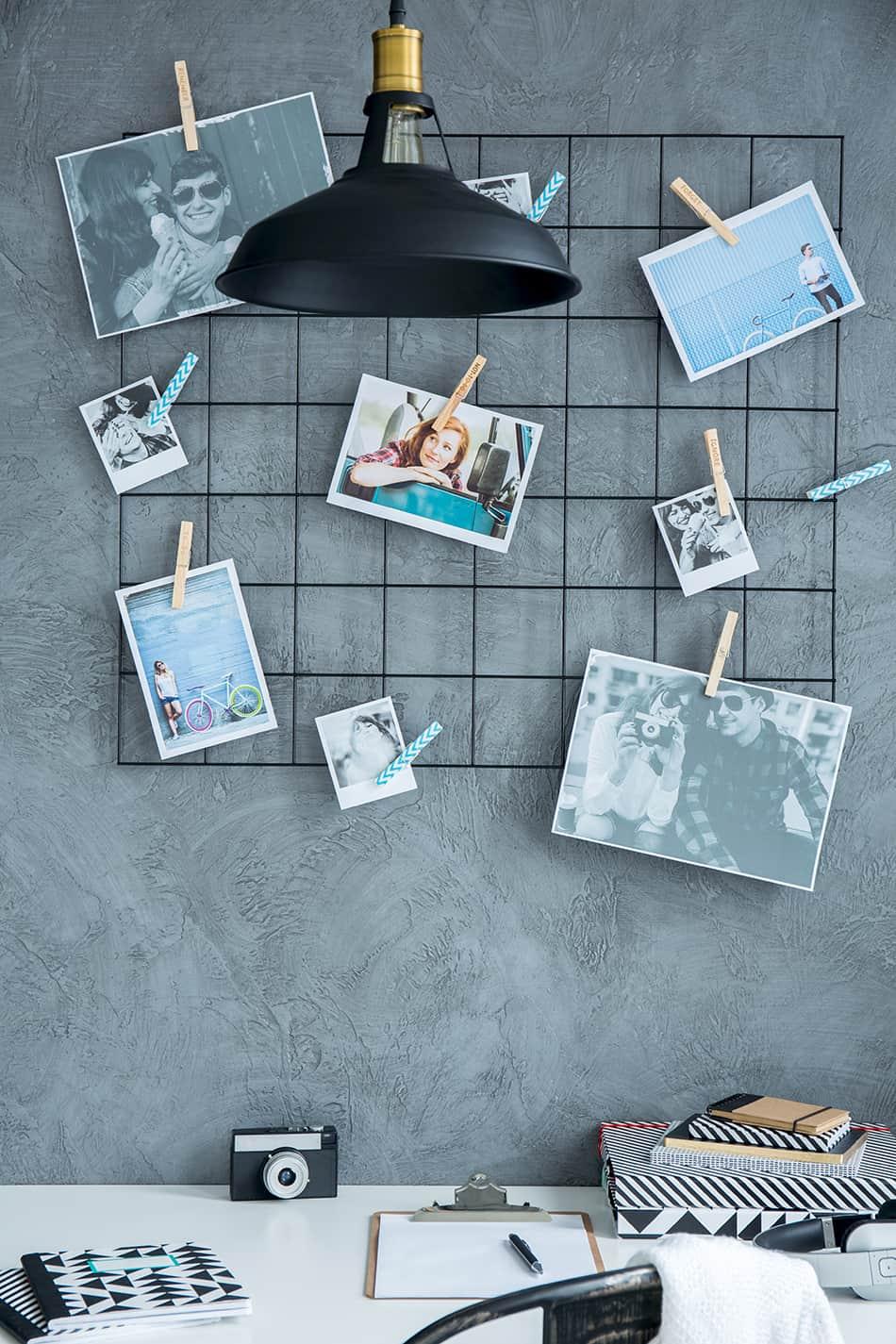 Peg a collection of printed photos