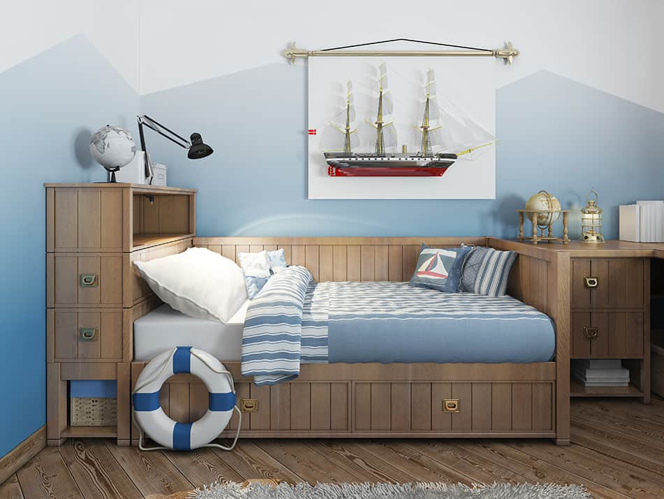A Teenager's Bedroom in Nautical Theme