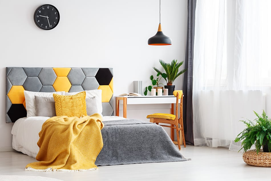Add Yellow Accessories to Cheer Up the Space