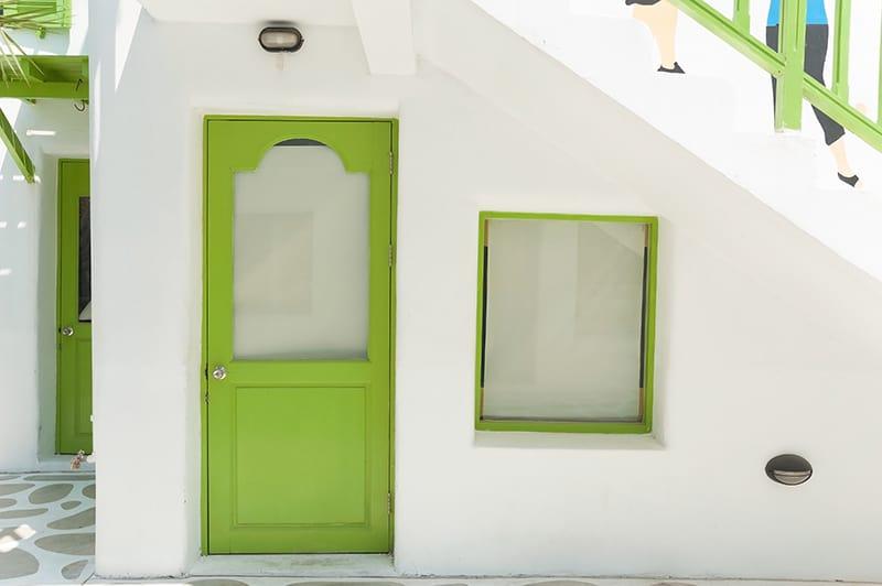 Bright Green Against Bright White