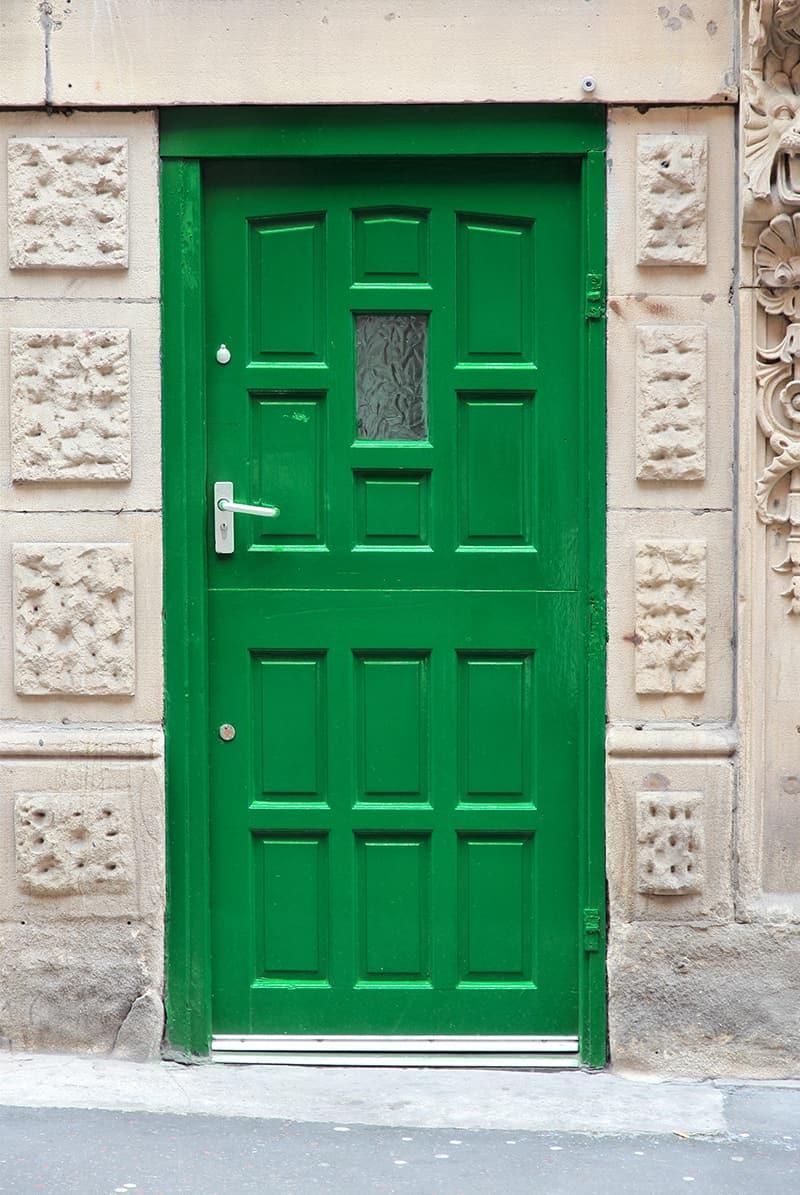 Green Door as the Focal Point