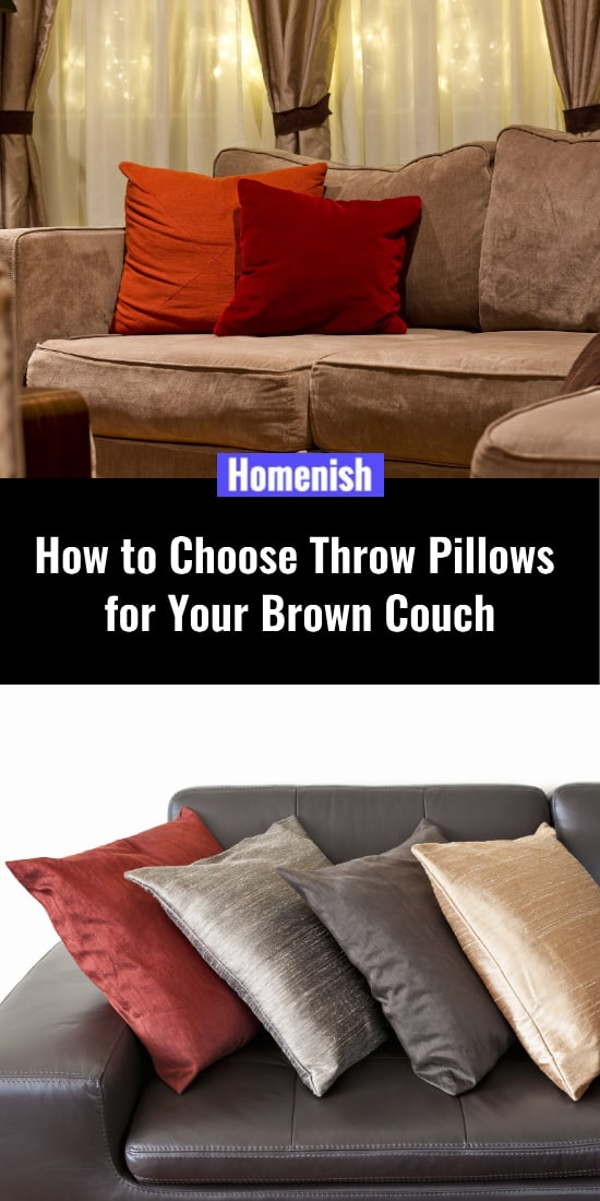 How to Choose Throw Pillows for Your Brown Couch