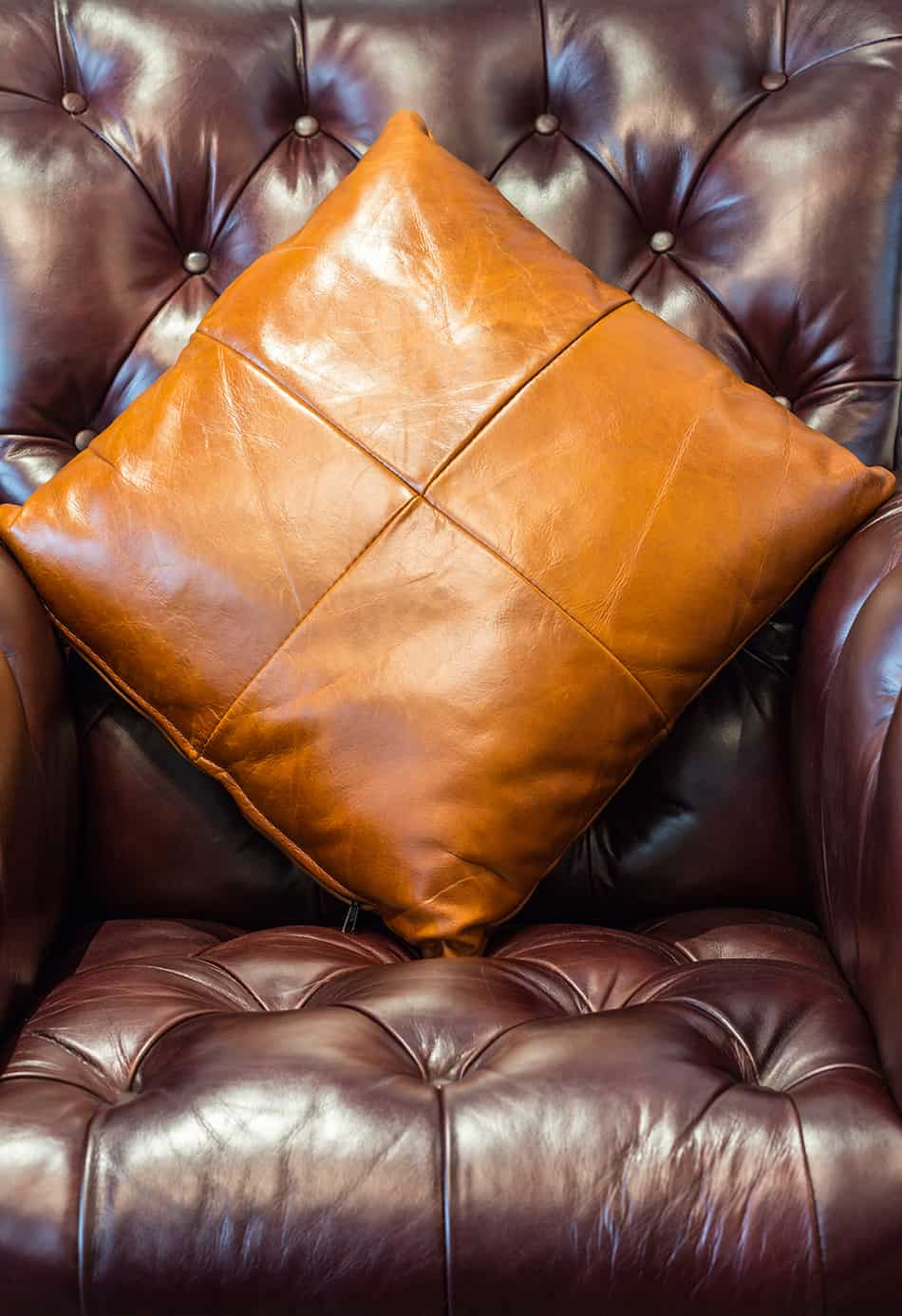 Leather Pillow for a Retro Look