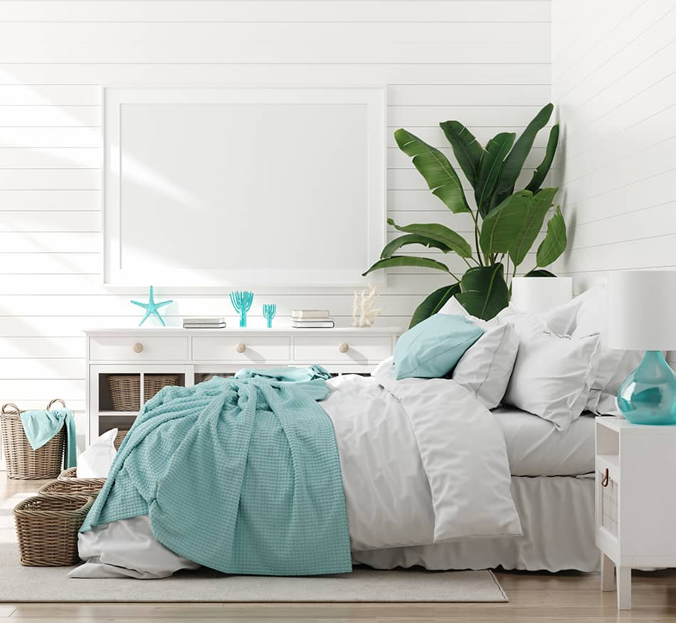 Paint Everything White with Hints of Blue