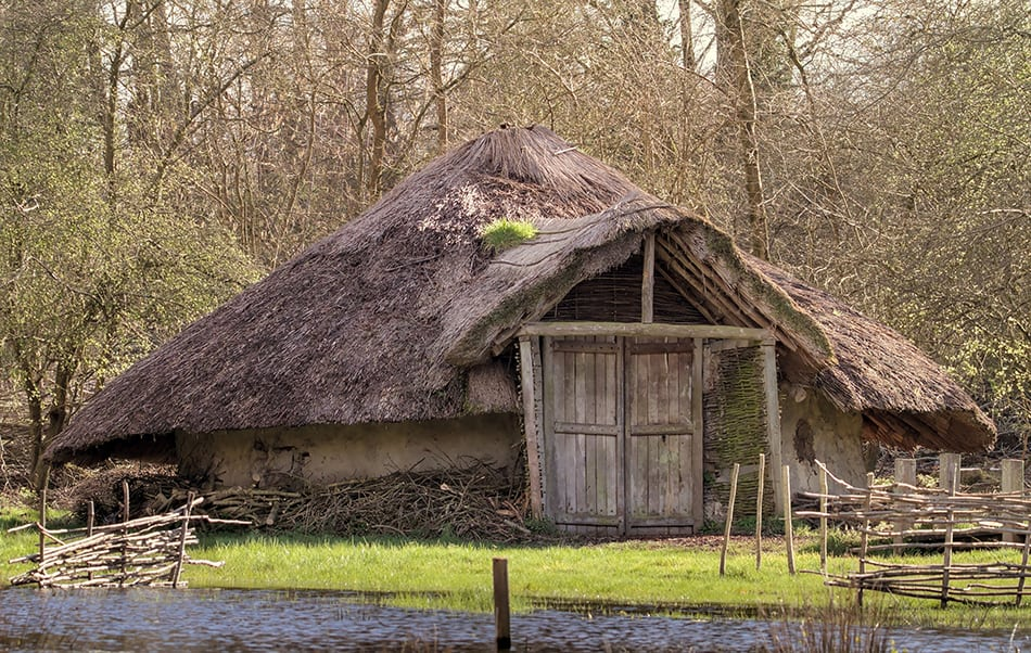 Reconstruction of a Bronze Age Round house