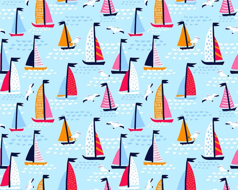 Sailing Wallpaper as a Bold Nautical Touch