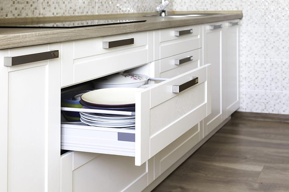 Consider your storage needs - how many shelves and how many drawers you need for storing