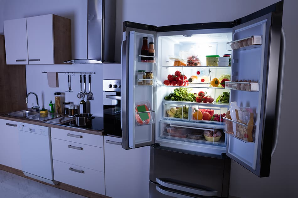 Declutter your fridge by dividing your fridge into sections