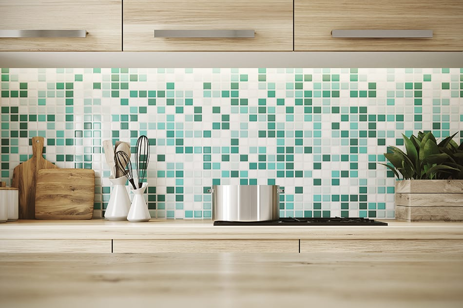 Kitchen wall and backsplash for aesthetics and protection