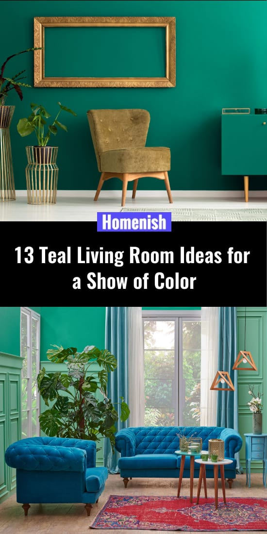 13 Teal Living Room Ideas for a Show of Color