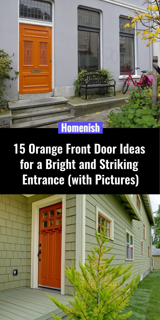 15 Orange Front Door Ideas for a Bright and Striking Entrance (with Pictures)