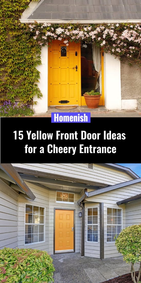 15 Yellow Front Door Ideas for a Cheery Entrance