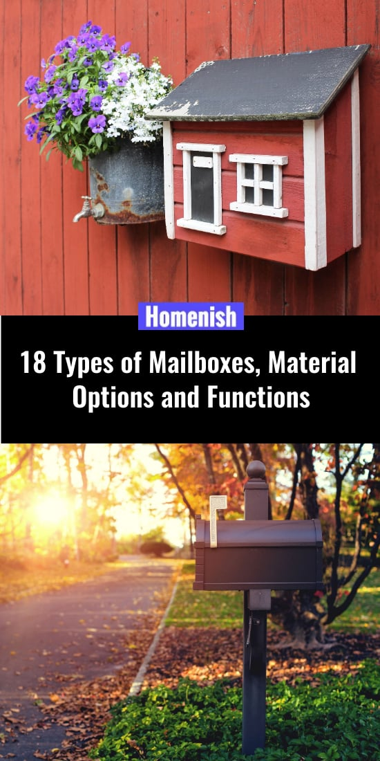 18 Types of Mailboxes, Material Options and Functions