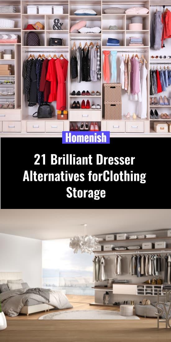 21 Brilliant Dresser Alternatives for Clothing Storage
