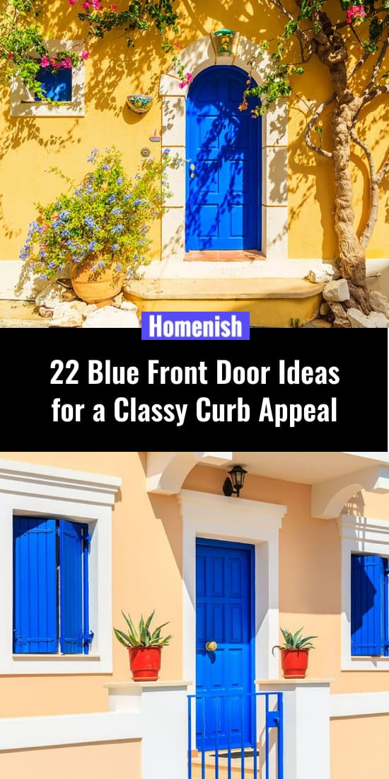 22 Blue Front Door Ideas for a Classy Curb Appeal