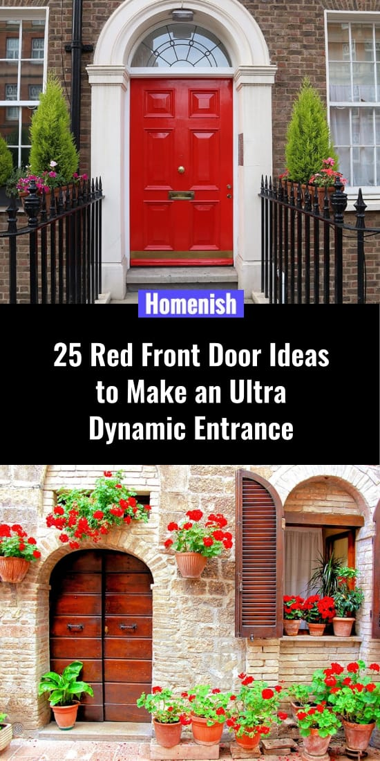25 Red Front Door Ideas to Make an Ultra Dynamic Entrance