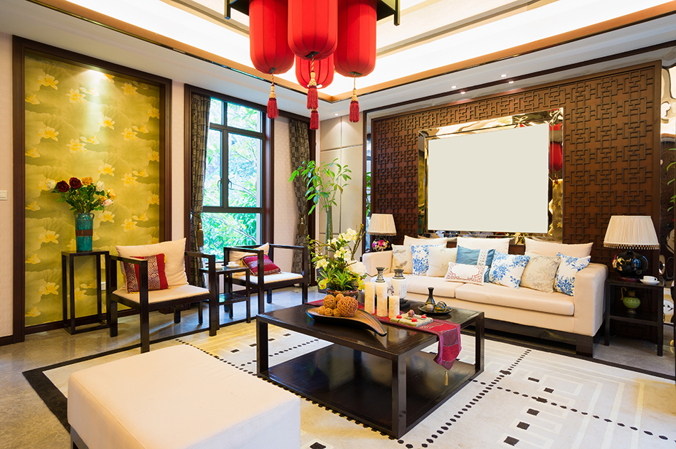 A Typical Asian-style Living Room
