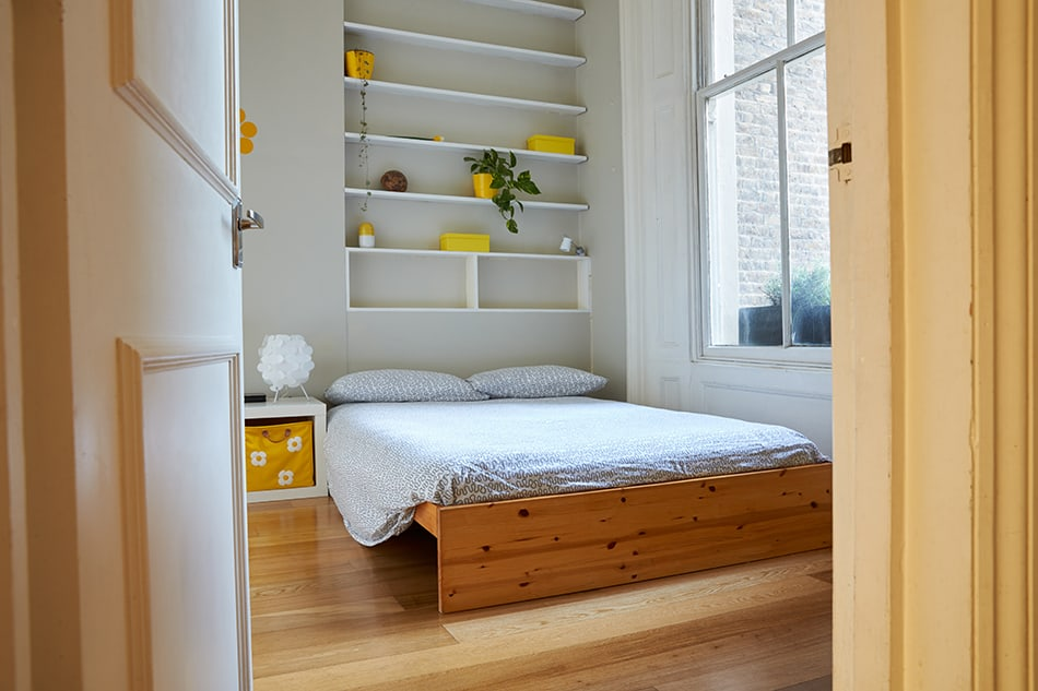 Above Bed Shelving