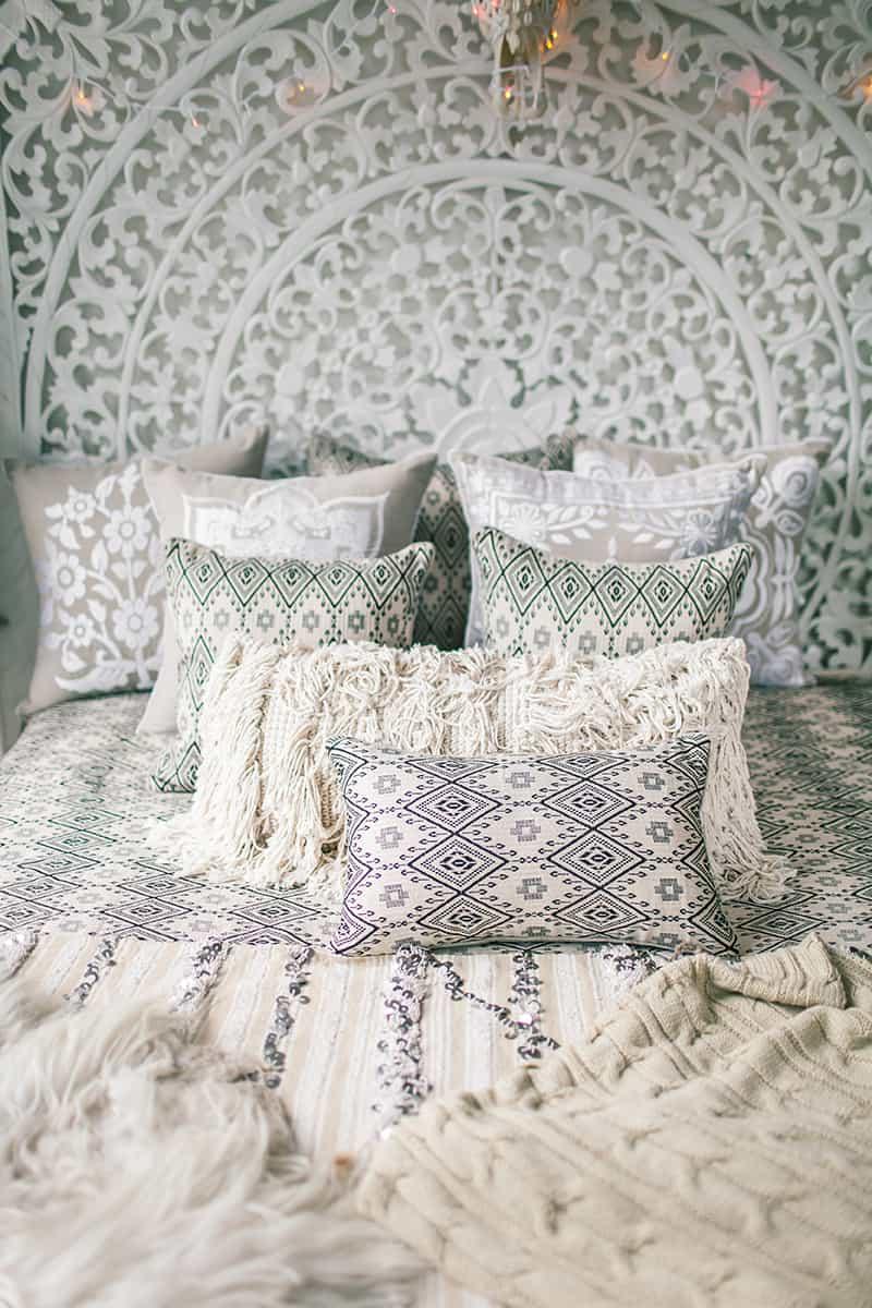 Add Luxurious Throw Pillows