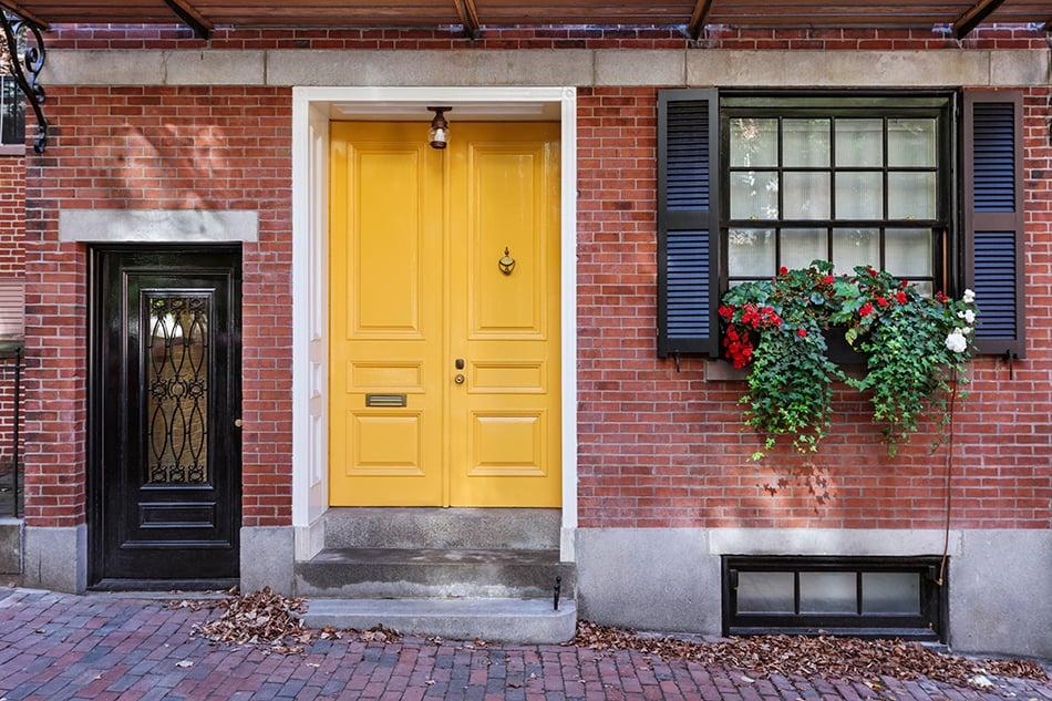 Classic Yellow Double Doors