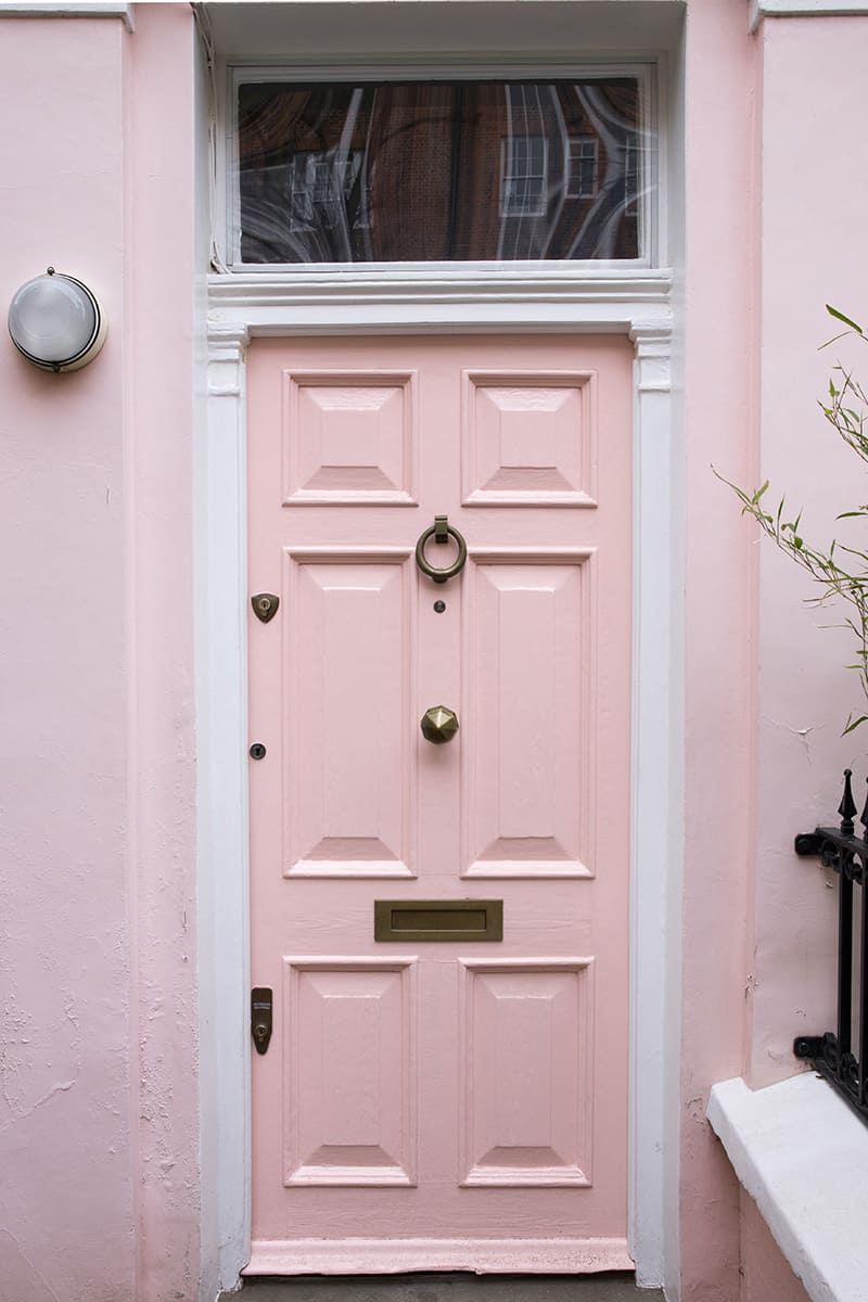 Cool Pink on a Pink Townhouse