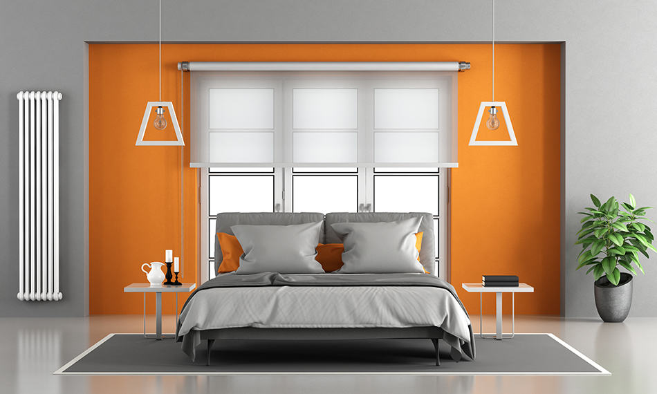 Create an Accent Wall in Orange