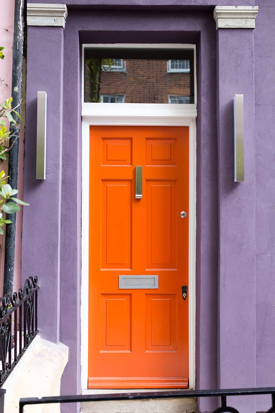 Crimson Orange on Purple for Curb Appeal
