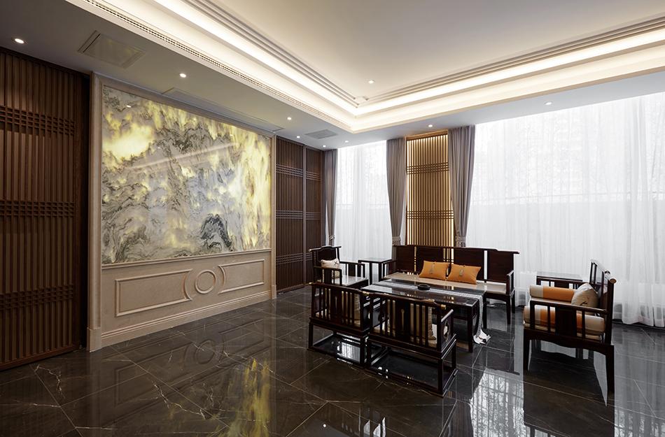 Dark Flooring in Zen Style