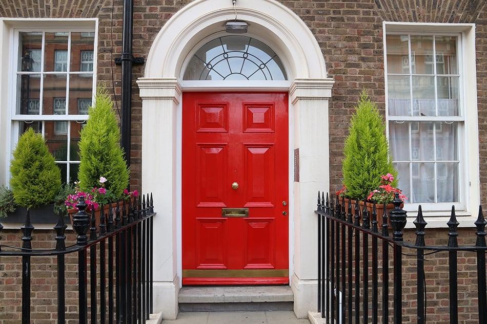 Georgian Style Red Door