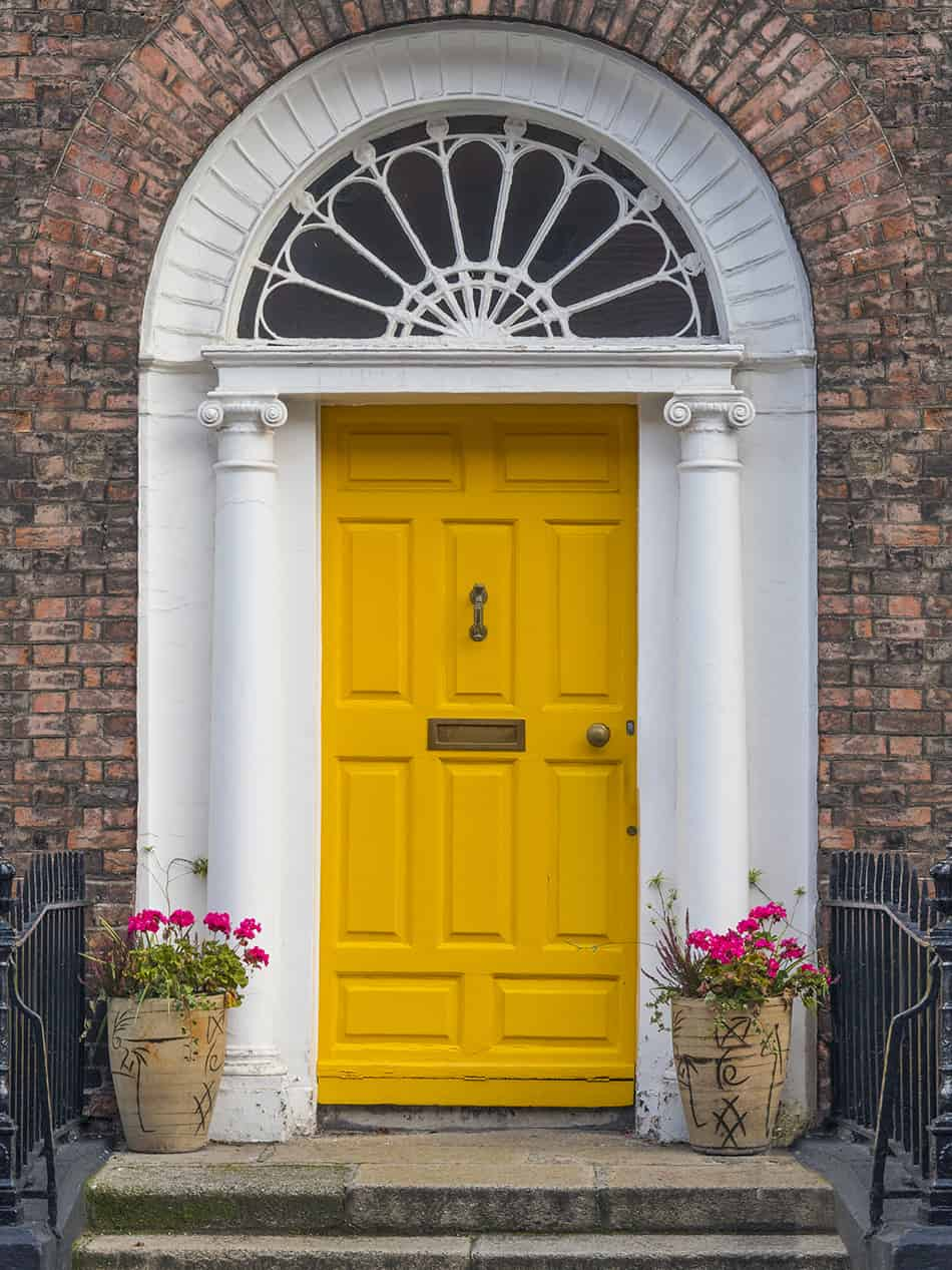 Georgian Style Yellow Door