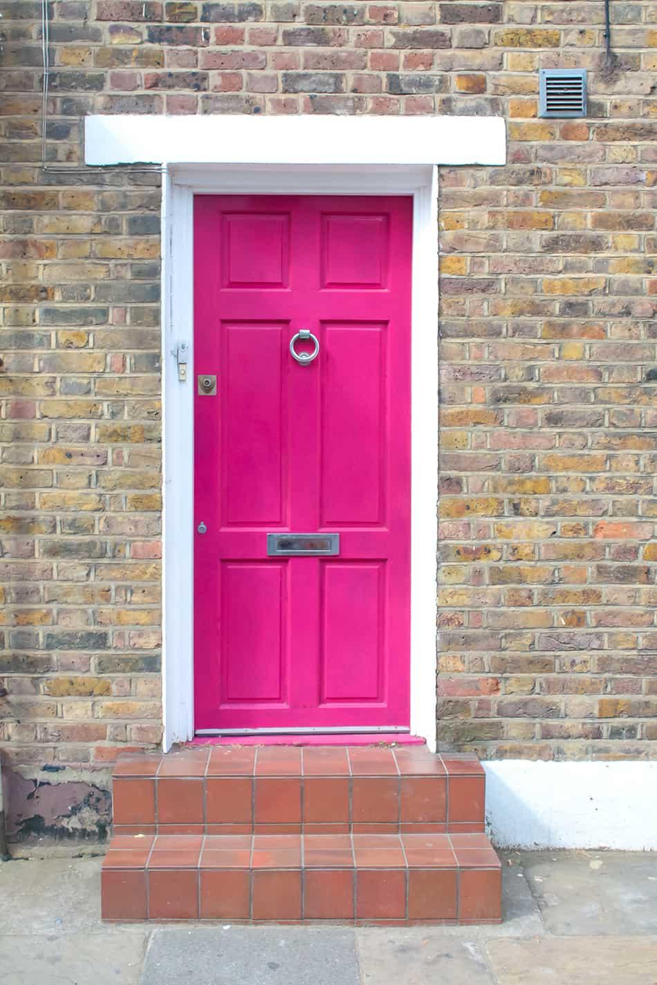 Hot Pink on Brick