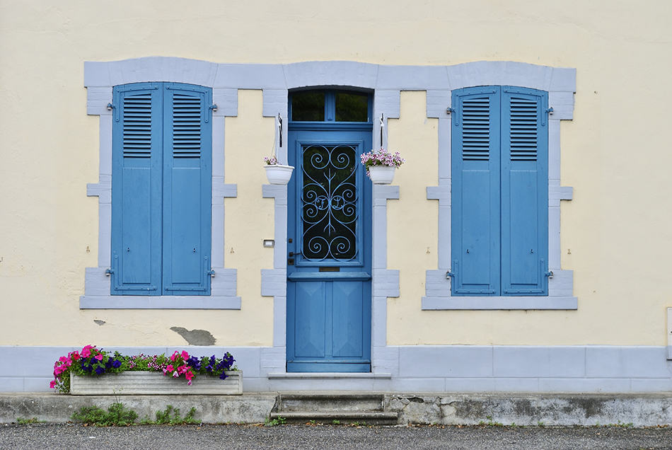 Light Blue with Matching Shutters