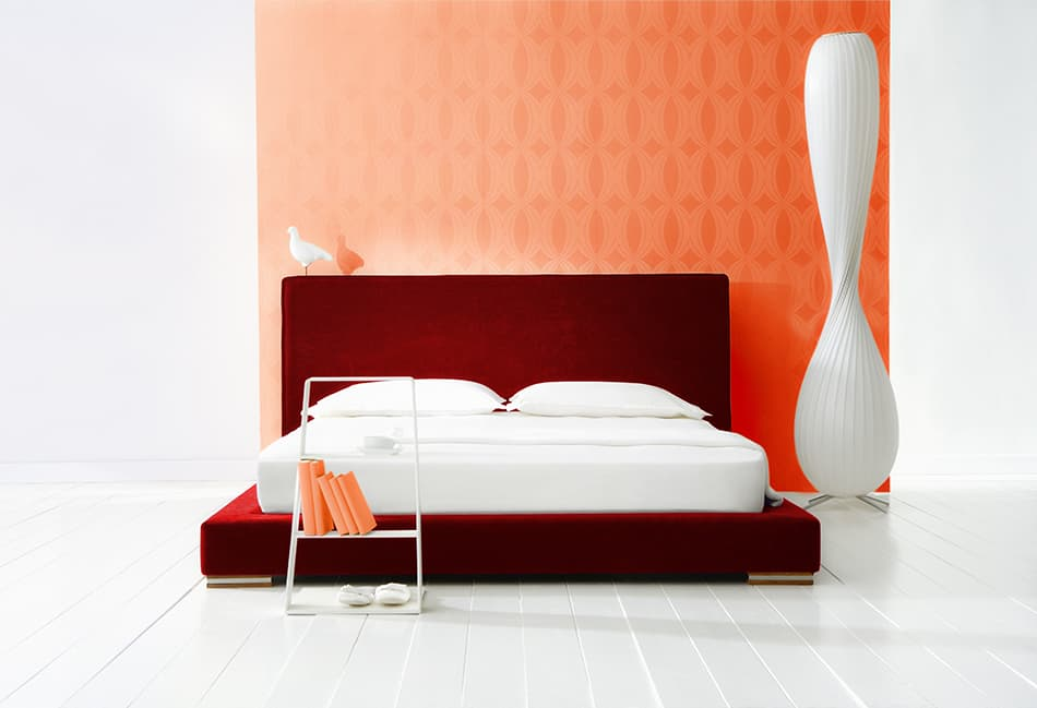 Make a Strong Statement with Orange Wallpaper