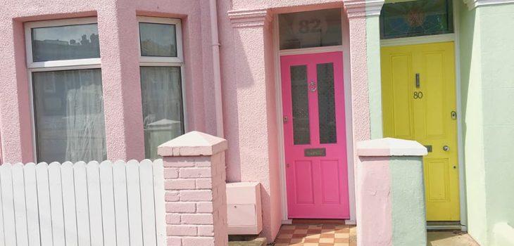 Pink Front Door Ideas