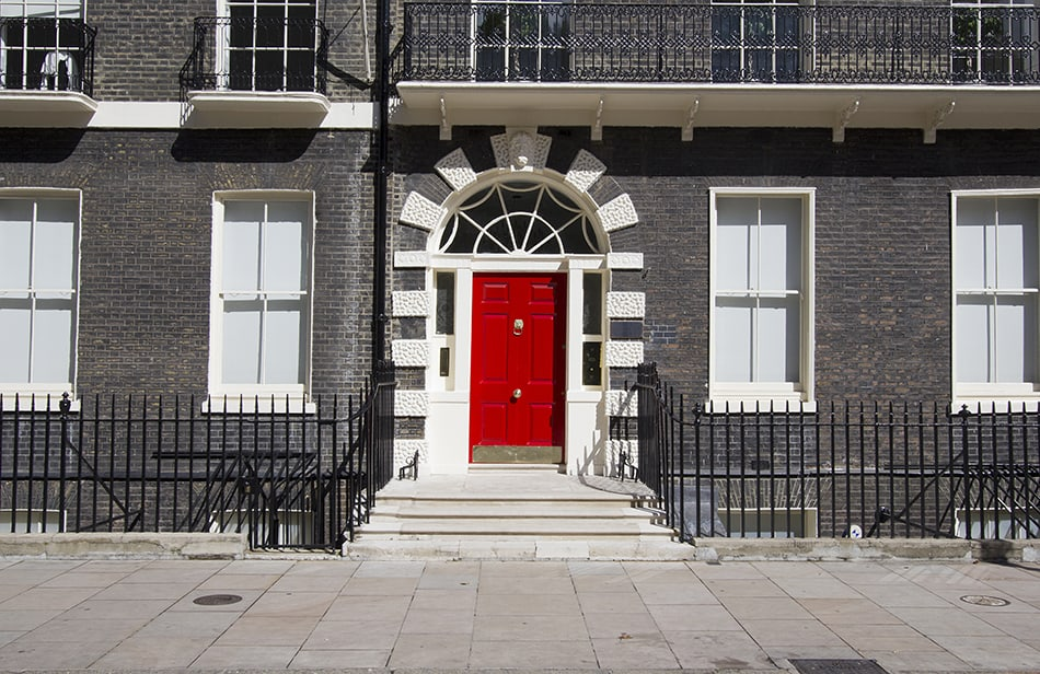 Red Door with Deep Color Palettes