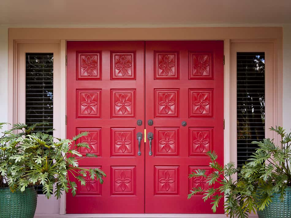 Red Double Doors to Add Spark