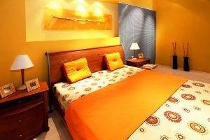 Stylish Orange Bedroom Decoration Ideas with Pictures