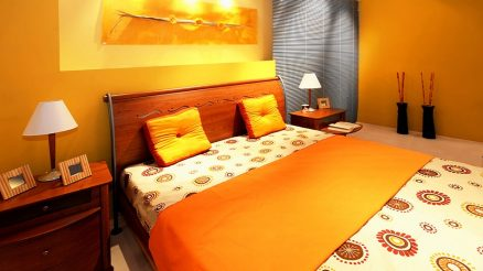 Stylish Orange Bedroom Decoration Ideas with Pictures