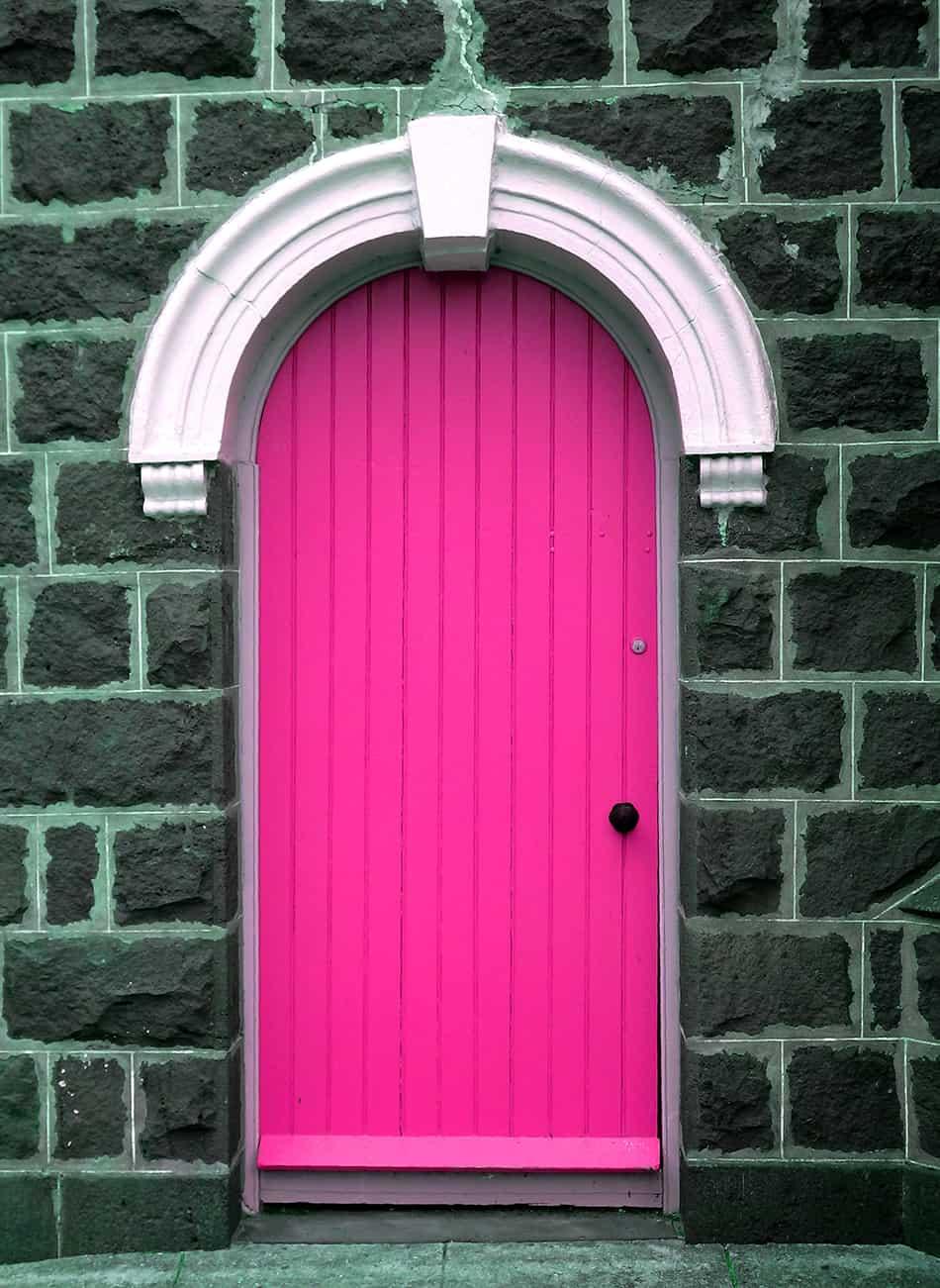 Vivid Pink on Stone